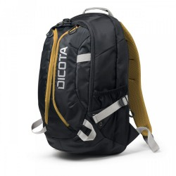 """DICOTA Batoh pro notebook Backpack Active/ 14-15,6""""/ černo-žlutý"""