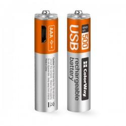 Colorway nabíjecí baterie AAA 400mAh/ USB/ 1.5V/ 2ks v balení