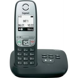 SIEMENS GIGASET A415A - DECT/GAP bezdrátový telefon, barva černá, se záznamníkem