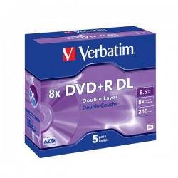 VERBATIM DVD+R DoubleLayer 8,5GB/ 8x/ Jewel/ 5pack