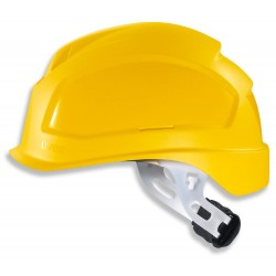 UVEX Přilba Pheos E-S-WR, bez ventilace - žlutá / uzavřená skořepina pro použití při elektrikářskych pracích