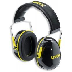UVEX Mušlový chránič K2 s náhlavním obloukem / SNR: 32 dB(A) / možnost nastavení délky / polstrovaný náhlavní oblouk