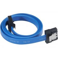 AKASA kabel 7pin SATA III na 7pin SATA III / AK-CBSA05-50BL / modrý / 50cm