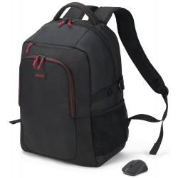DICOTA batoh pro notebook Backpack Gain Wireless Mouse Kit/ černý