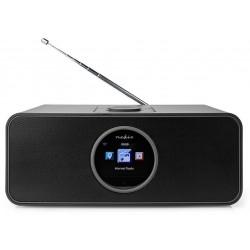 NEDIS internetové rádio/ výkon 42W/ FM/ Internet/ Bluetooth®/ Wi-Fi/ USB/ 3,5mm jack/ černé