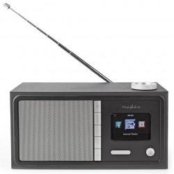 NEDIS internetové rádio/ výkon 18W/ FM/ Internet/ Bluetooth®/ Wi-Fi/ 3,5mm jack/ černé