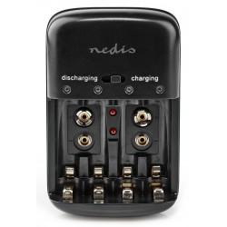 NEDIS nabíječka baterií/ AA/AAA/E-Block/ pro Ni-MH/ Ni-Cd/ černá