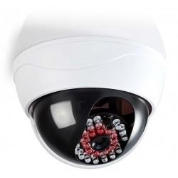 NEDIS atrapa bezpečnostní kamery s infračervenou LED/ dome/ IP44/ venkovní i vnitřní/ bílá