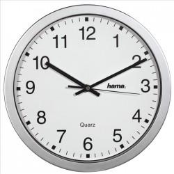 HAMA nástěnné hodiny CWA100/ 1x AA baterie/ stříbrné