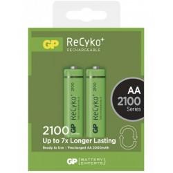 GP nabíjecí baterie AA NiMH 2100mAh Recyko+ 2ks blistr