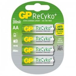 GP nabíjecí baterie AA NiMH 2000mAh Recyko+ 4ks blistr