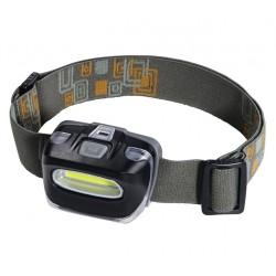 HAMA LED čelovka/ 110lm/ COB LED diody/ 3x AAA (sučást balení)/ oranžová-šedá