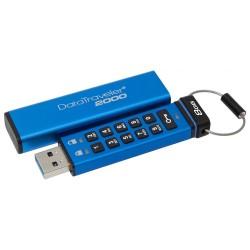 KINGSTON DT2000 8GB / USB 3.0 / 256-bit AES HW šifrování / keypad / modrá