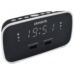AIWA CRU-19BK/ Radiobudík/ FM/ 2x přední USB/ Černý