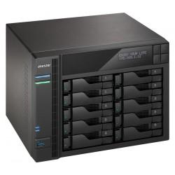 """Asustor NAS AS7010T-I5 / 10x 2,5""""/3,5"""" SATA III/ Intel i5-4590S 3.0GHz/ 8 GB/ 2x GbE/ 3x USB 3.0/ 2x USB 2.0/ eSATA"""