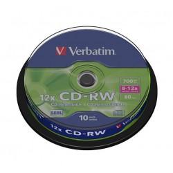 VERBATIM CD-RW80 700MB/ 8-12x/ 80 min/ 10pack/ spindle