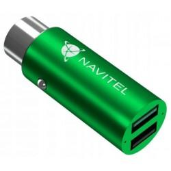 NAVITEL adaptér UC322 pro nabíjení smartphonů, tabletů a dalších zařízení/ 2x USB/ napětí 12 V / 24 V