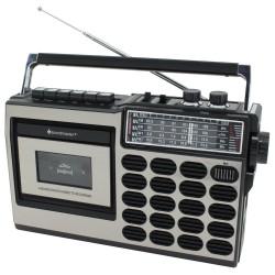 Soundmaster RR18SW/ Kazetový magnetofon/ FM/ MIC/ USB/ SD/ 3W RMS