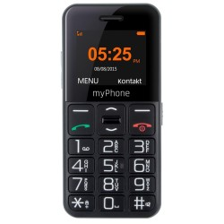 """MyPhone Halo Easy Senior   1,77""""/ Single SIM/ Micro SDHC až 32 GB/ černý"""