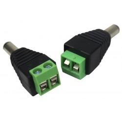 XtendLan Napájecí redukce jack/šroub - JACK 5,5/2,1mm (k zařízení) na šroubovou svorkovnici