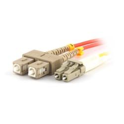 Solarix pigtail 50/125 LCpc/SCpc MM OM2 1m duplex SXPC-LC/SC-PC-OM2-1M-D