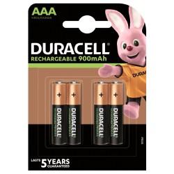 DURACELL - Nabíjecí AAA 900mAh 4 ks