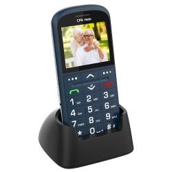 """CPA HALO 11 Pro modrý   nabíjecí stojánek/ pro seniory/ 2,4"""" barevný display/ SOS tlačítko/ vestavěná svítilna/ FM rádio"""