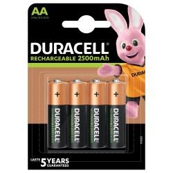 DURACELL - Nabíjecí AA 2500mAh 4 ks