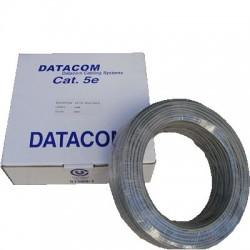 DATACOM kabel drát C5E UTP PVC 100m šedý