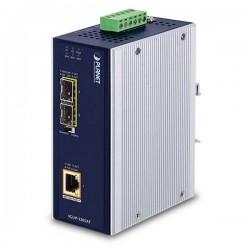 PLANET IGUP-1205AT PoE++ konvertor 802.3bt, 1x 1000Base-T, 2x SFP 100/1000Base-X, dual power 12-56VDC, -40 až 75st.