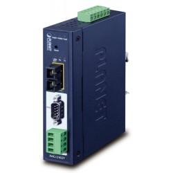 PLANET MODBUS průmyslová brána RS-232/422/485 na IP, 1x COM, 100Base-FX SC MM 2km, RTU/ACSII, -40až+75°C, 9-48VDC,IP30