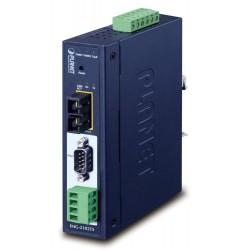 PLANET MODBUS průmyslová brána RS-232/422/485 na IP, 1x COM, 100Base-FX SC SM 30km, RTU/ACSII, -40až+75°C, 9-48VDC,IP30