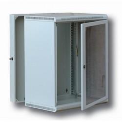 """Solarix Atrack 19"""" rozvaděč LC-13 dvoudílný 12U/500mm celoskleněné dveře RAL 7035"""