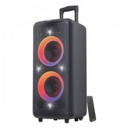 FENDA F&D párty repro PA300/ trolejové/ 100W/ BT/ USB/ FM rádio/ optický vstup/ bezdrát. mikrofon/ dálkové ovládání