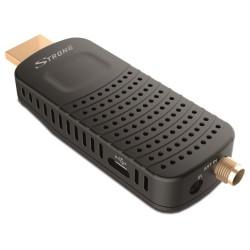 OPRAVENÉ - STRONG DVB-T/T2 tuner HDMI stick SRT 82/ Full HD/ H.265/HEVC/ externí anténa/ EPG/ PVR/ HDMI/ USB/ micro USB/...