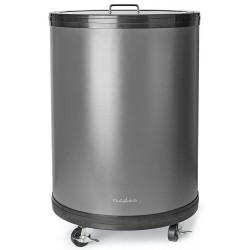 NEDIS chladicí box na večírky/ objem 30 litrů/ skleněný kryt/ kompresorové chlazení/ nastavitelná teplota 0-16 °C/ šedý