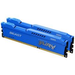 KINGSTON FURY Beast Blue 16GB DDR3 1600MHz / CL10 / DIMM / KIT 2x 8GB