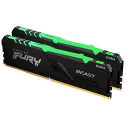 KINGSTON FURY Beast RGB 64GB DDR4 3000MHz / CL16 / DIMM / KIT 2x 32GB