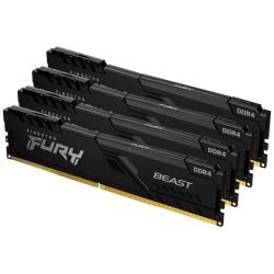 KINGSTON FURY Beast Black 64GB DDR4 2666MHz / CL16 / DIMM KIT 4x 16GB