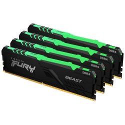 KINGSTON FURY Beast RGB 64GB DDR4 2666MHz / CL16 / DIMM KIT 4x 16GB