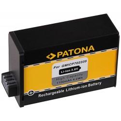 PATONA baterie pro digitální kameru Garmin VIRB 360 1100mAh Li-lon 3,8V