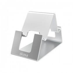 AKASA stojánek Aries Pico pro mobilní telefon / tablet / AK-NC061-SL / hliníkový / stříbrný