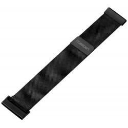 NOERDEN kovový řemínek Milanese/ 20 mm/ černý