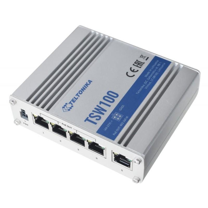 OPRAVENÉ - Teltonika průmyslový nemanažovaný PoE switch TSW100 4x802.3af/at