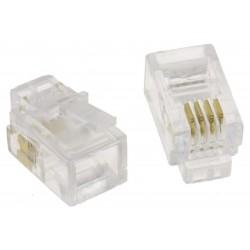 XtendLan Konektor tel. RJ10 4p4c